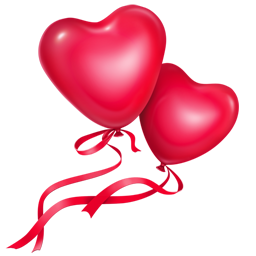 balloons, fairy, flowers, hearts, love, smiles icon