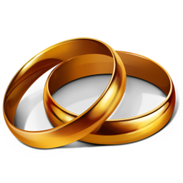 marriage, party, rings, wedding icon