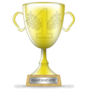 gold, trophy, winner icon