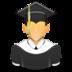 graduated, learner, school, student, university icon
