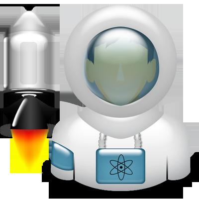 astronaut, space icon