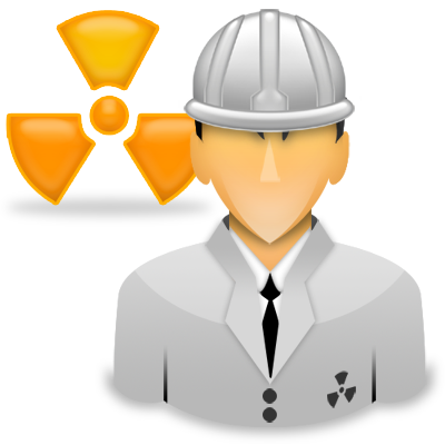engineer, nuclear, radiation, spectrometry, worker icon