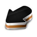 arrow, orange icon