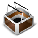cart, orange icon