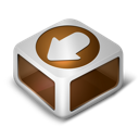 download, orange icon