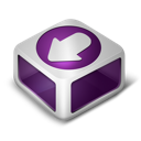 download, purple icon