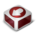 download, red icon