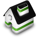 green, home icon
