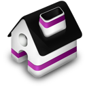 home, purple icon