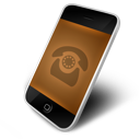 orange, phone icon