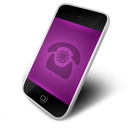 phone, purple icon