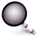 purple, radar, search icon