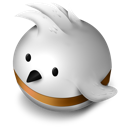 bird, orange, twitter icon