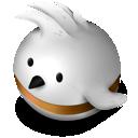 bird, orange, twitter icon