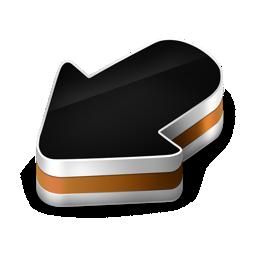 arrow, orange icon