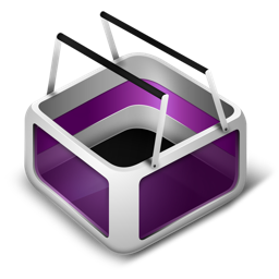 basket, cart, ecommerce, purple, shopping icon