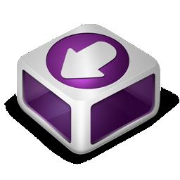download, purple icon