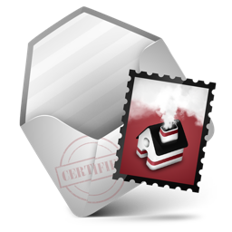 mail, red icon