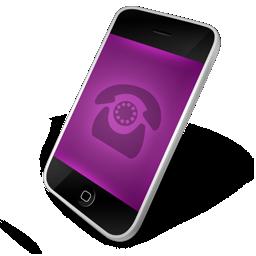 phone, purple icon