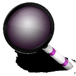 purple, radar, search icon