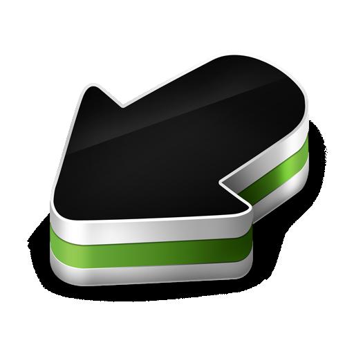 arrow, green icon