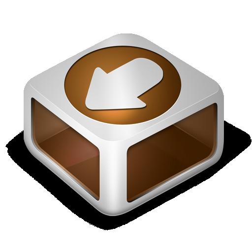 download, orange icon
