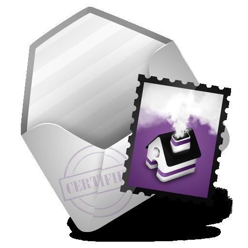 mail, purple icon