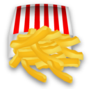 128, fast food, french, fries icon