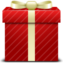 gift, red icon