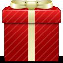 dárek, červená ikona