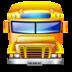 school bus, service, transportation icon