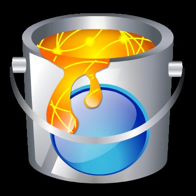 bucket, color, fill icon