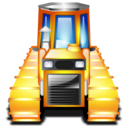 caterpillar, tractor icon