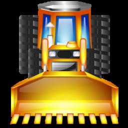 earthmover, truck icon