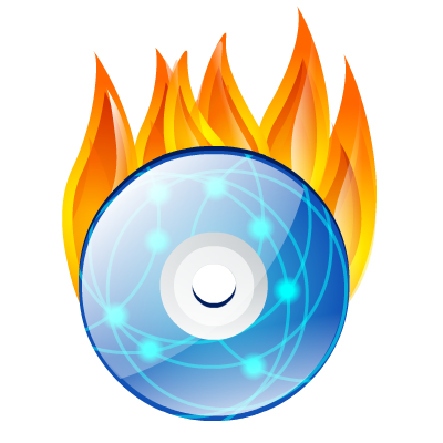 burn, dvd icon