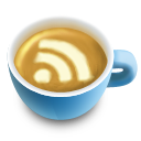 cup, feed, rss icon