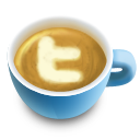 48, latte, social, twitter icon