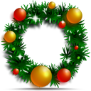 christmas, wreath, decoration, ornament