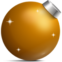 ball, christmas, golden icon