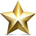 christmas, golden, star icon