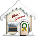 home, merry christmas icon