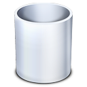 empty, garbage, recycle bin, trash icon