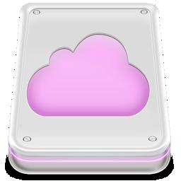 cloud, disk, drive, mobileme icon