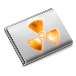 burn, folder, | icon