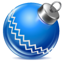 ball, blue, christmas icon