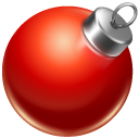 ball, christmas, red icon