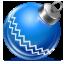 ball, blue, christmas icon