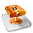 color, ms, powerpoint, projector, surveillance icon