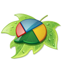 buzz, google, google buzz, leaf icon