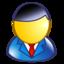 business man, executive, man, user icon